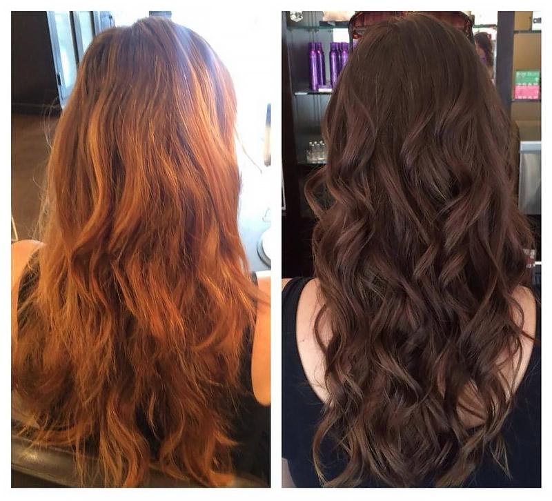 Окрашивания волос фото до и после